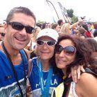 Los profesores de Fisioterapia Javier Martínez Gramage y Ana Garés, en el triatlón de Valencia