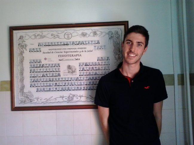 Francisco José Alarcón Pérez, Delegado de 2ªA del Grado de Fisioterapia de la CEU-UCH