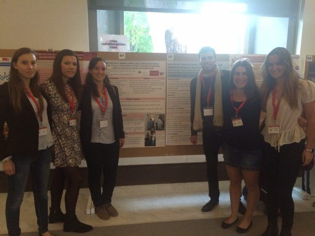 Alumnos de la CEU-UCH en el Congreso de Fisioterapia de Toledo 2015