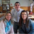 Andrea Bono, delegada de 3ºB, con Teresa Monzonís y Pablo Salvador