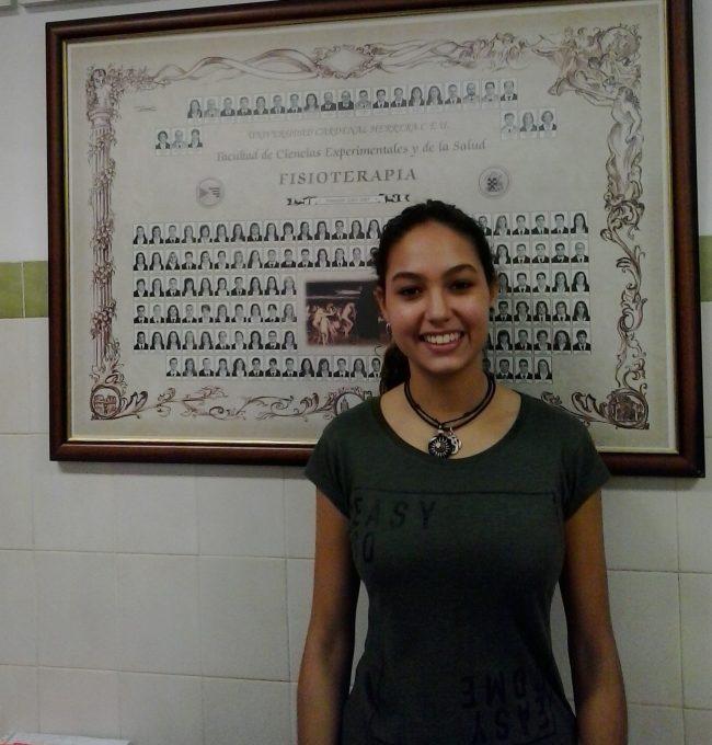 Mireia Jiménez, delegada de 2º B del Grado de Fisioterapia de la CEU-UCH