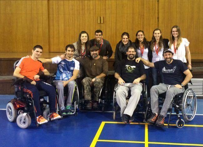 Nuestros compañeros de Fisioterapia visitando el Hospital de Parapléjicos de Toledo