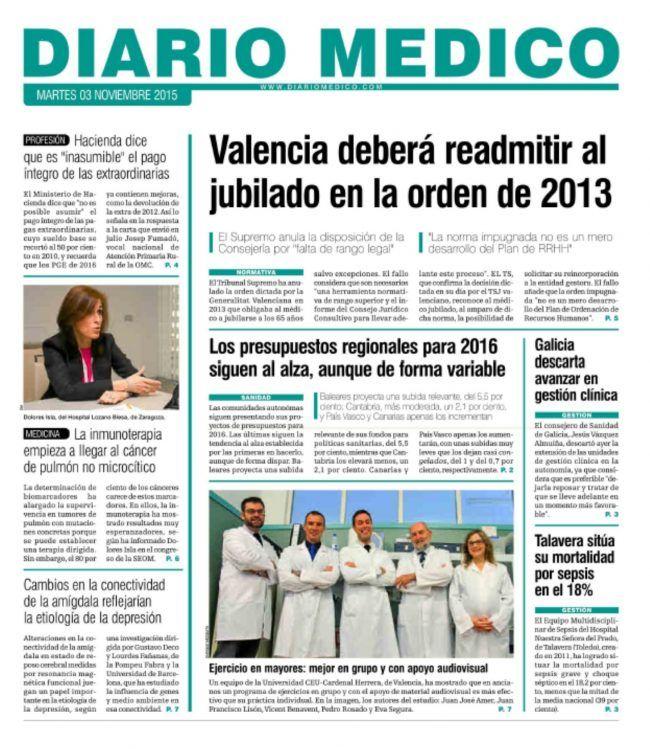 Portada Diario Médico 3 de noviembre de 2015