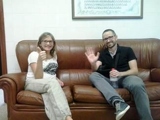 Los profesores de Fisioterapia de la CEU-UCH Arturo Such y Eva Segura