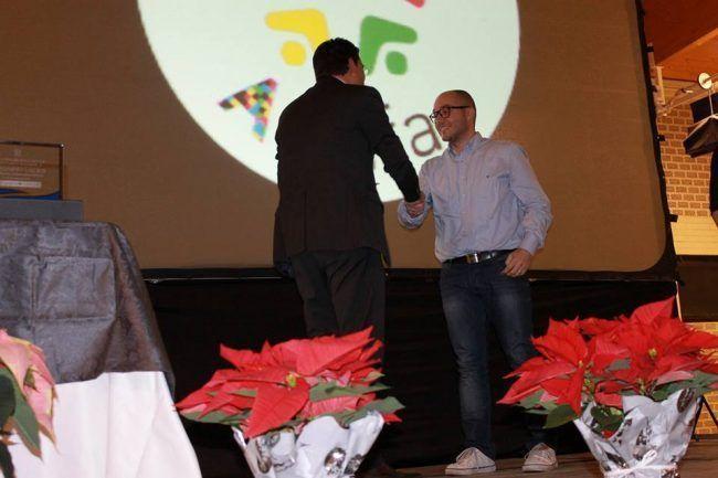 Paco Martínez premiado por el alcalde de Alfafar en la Gala del Deporte