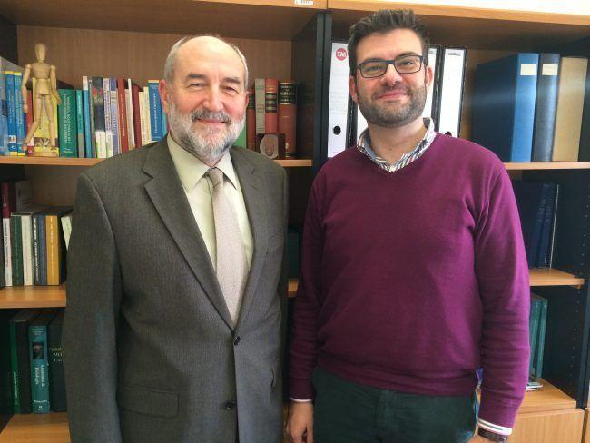 Los profesores Pedro Rosado y Juanjo Amer, nuevos cargos al frente de la titulación de Fisioterapia