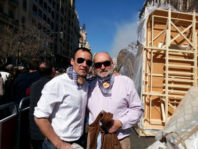 Pedro y Juan Francisco, mascletá 2016.