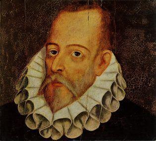 Miguel de Cervantes, retrato de Juan de Jauregui.
