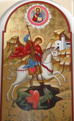 San Jorge y del dragón.