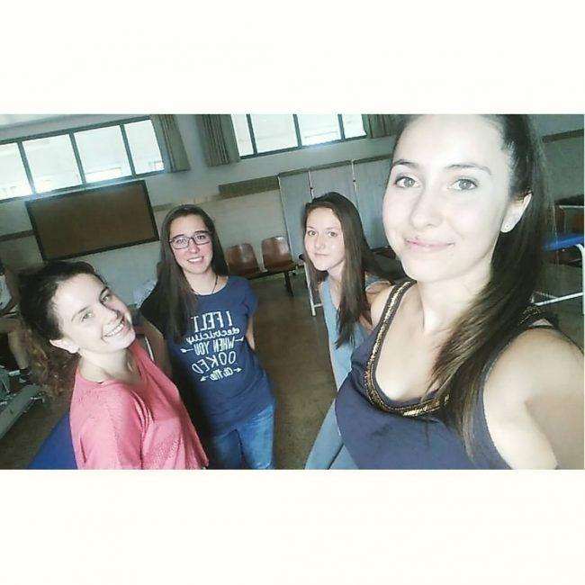 Marta, Silvia, Célia y Manon.