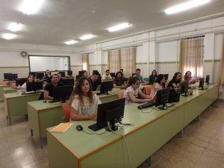 Alumnos del Master en clase de estadística.