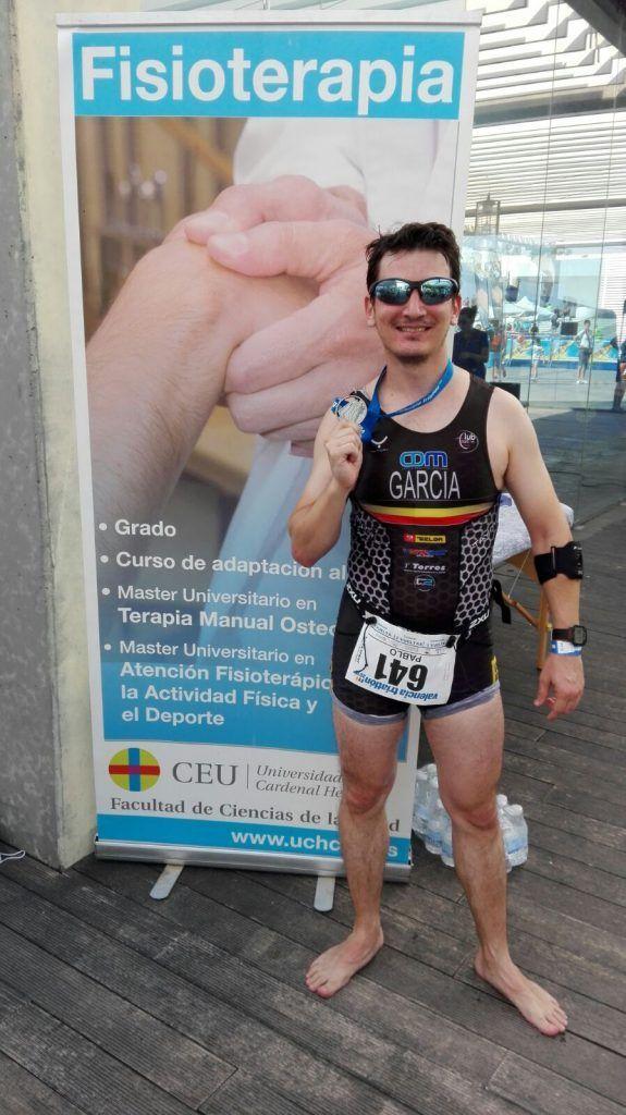 Pablo Salvador culmina el Triatlón de Valencia