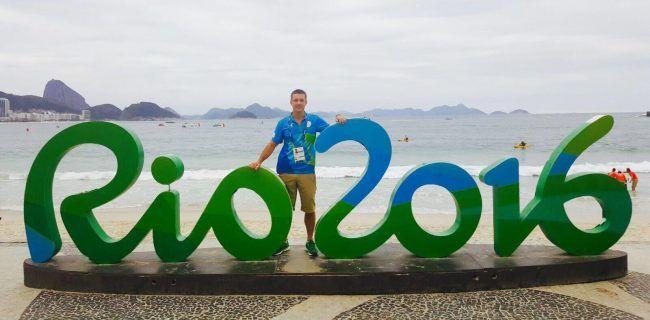 Javier Gramage durante su estancia en Rio 2016