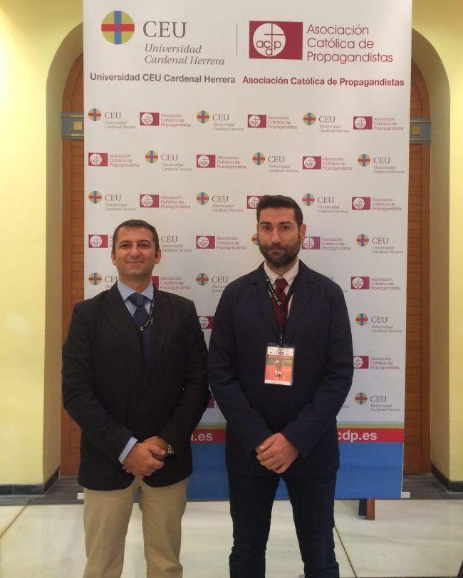 Los decanos del Colegio Oficial de Fisioterapeutas antes de inaugurar las Jornadas