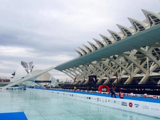 Los últimos metros de la maratón de Valencia