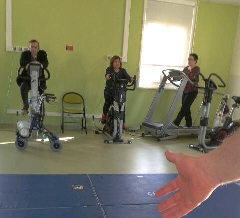 Una sesión de fisioterapia cardiorespiratoria en el Hospital Bichat de París