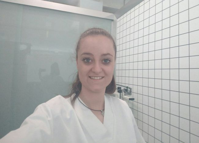 Marta Álvarez García nos manda un selfie desde su practicum