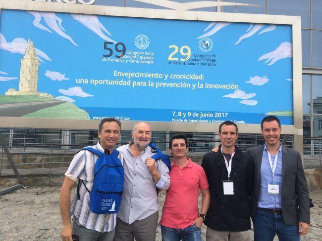 Los profesores de la UCH-CEU que acudieron al Congreso de Geriatría de Coruña 2017
