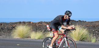 Martínez Gramage durante la etapa en bicicleta del ironman Hawai 2017