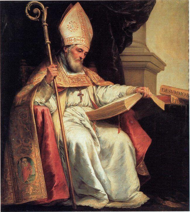 Cuadro de Bartolomé Esteban Murillo que representa a San Isidoro de Sevilla, patrono de Internet
