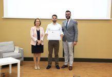 Alberto Cavero y Juanjo Amer, extraordinarios fisioterapeutas, con la rectora de la UCH-CEU, Rosa Visiedo