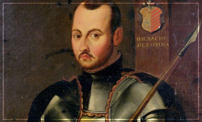 San Ignacio hacía mucho ejercicio en su juventud, como muestra este cuadro anónimo en actitud guerrera