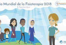 Hoy es el Día Mundial de la Fisioterapia 2018 (cartel del vídeo promocional. Fuente WCPT