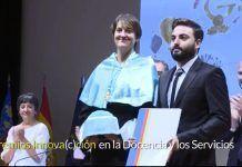 Premio a la fisioterapia cardiorrespiratoria de la CEU-UCH. Noemí Valtueña y Fran Ferrer son los principales artífices.