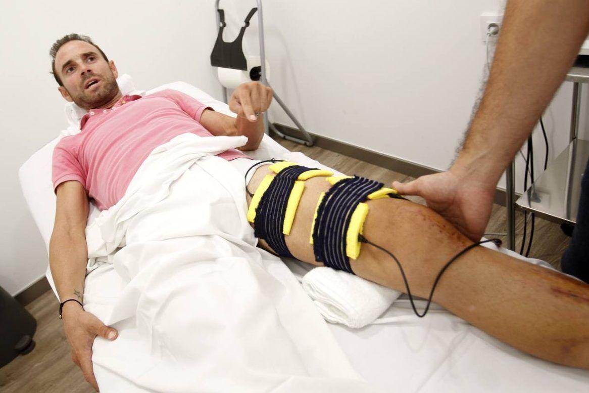 Alejandro Valverde recuperó la funcionalidad de su pierna gracias a la intensa fisioterapia. FOTO Martínez Bueso