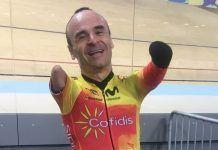 Les faltan manos a deportistas como Ricardo Ten, pero les sobran méritos, como ganar el Mundial de ciclismo en 2018. Foto Foto Fgarciacasas