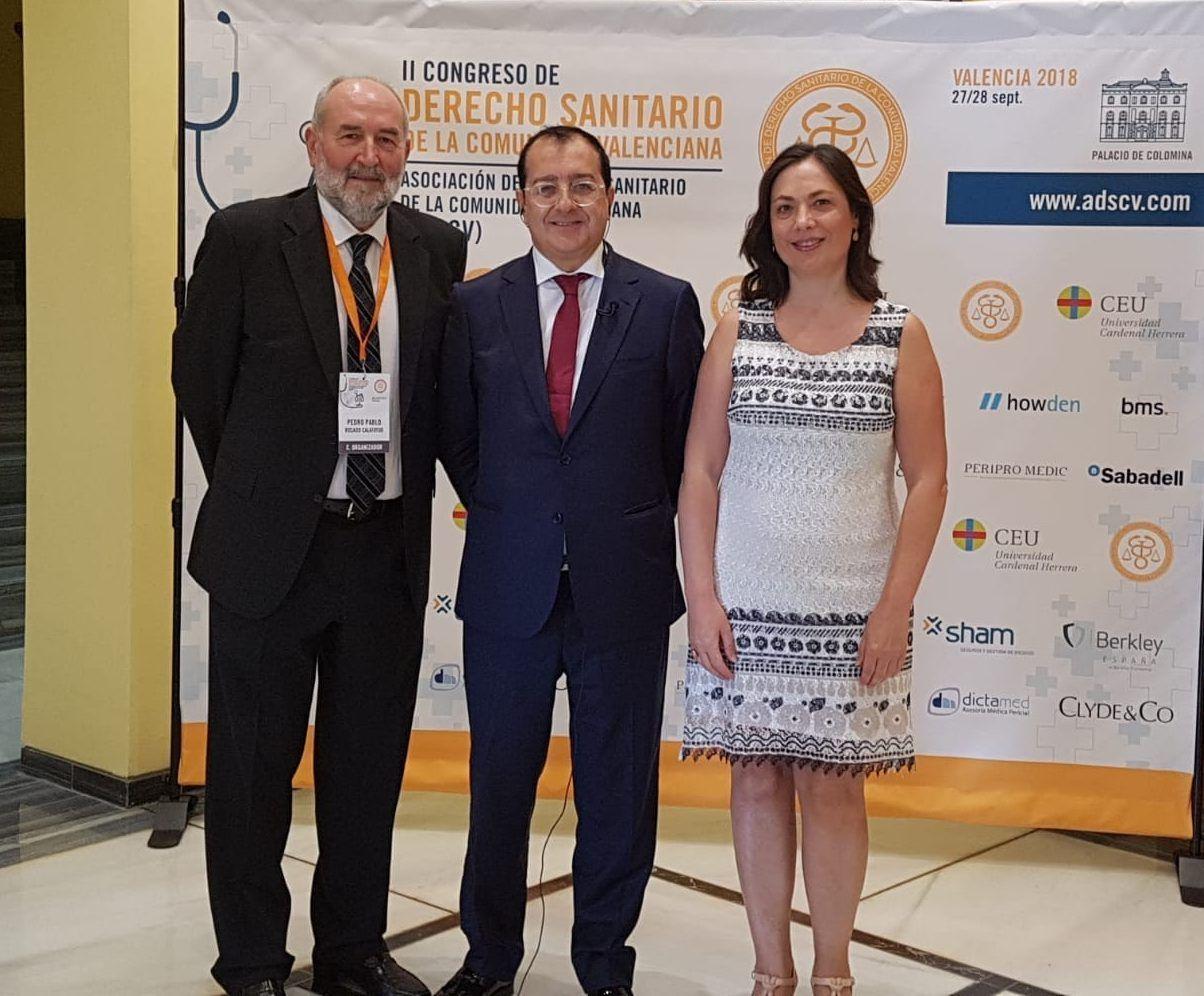 Pedro Rosado, Carlos Fornes y Carmen Puerto, protagonistas del II Congreso de Derecho Sanitario de la Comunidad Valenciana