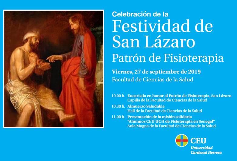 Celebramos a San Lázaro, patrón de la Fisioterapia