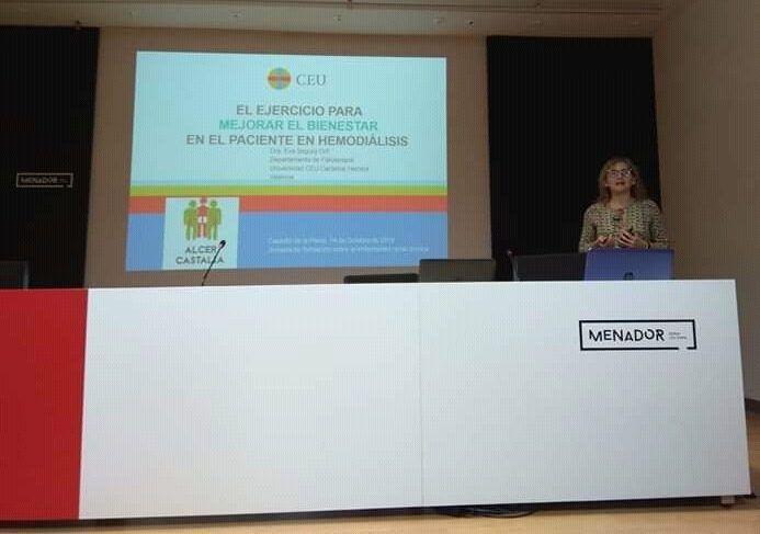 Ejercicio para el bienestar. Eva Segura divulga la Fisioterapia en enfermedad renal crónica.