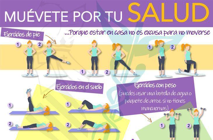 Ejercicio terapéutico en casa. Movimiento para tu salud. FUENTE Ilustre Colegio Oficial de Fisioterapeutas de la Comunidad Valenciana