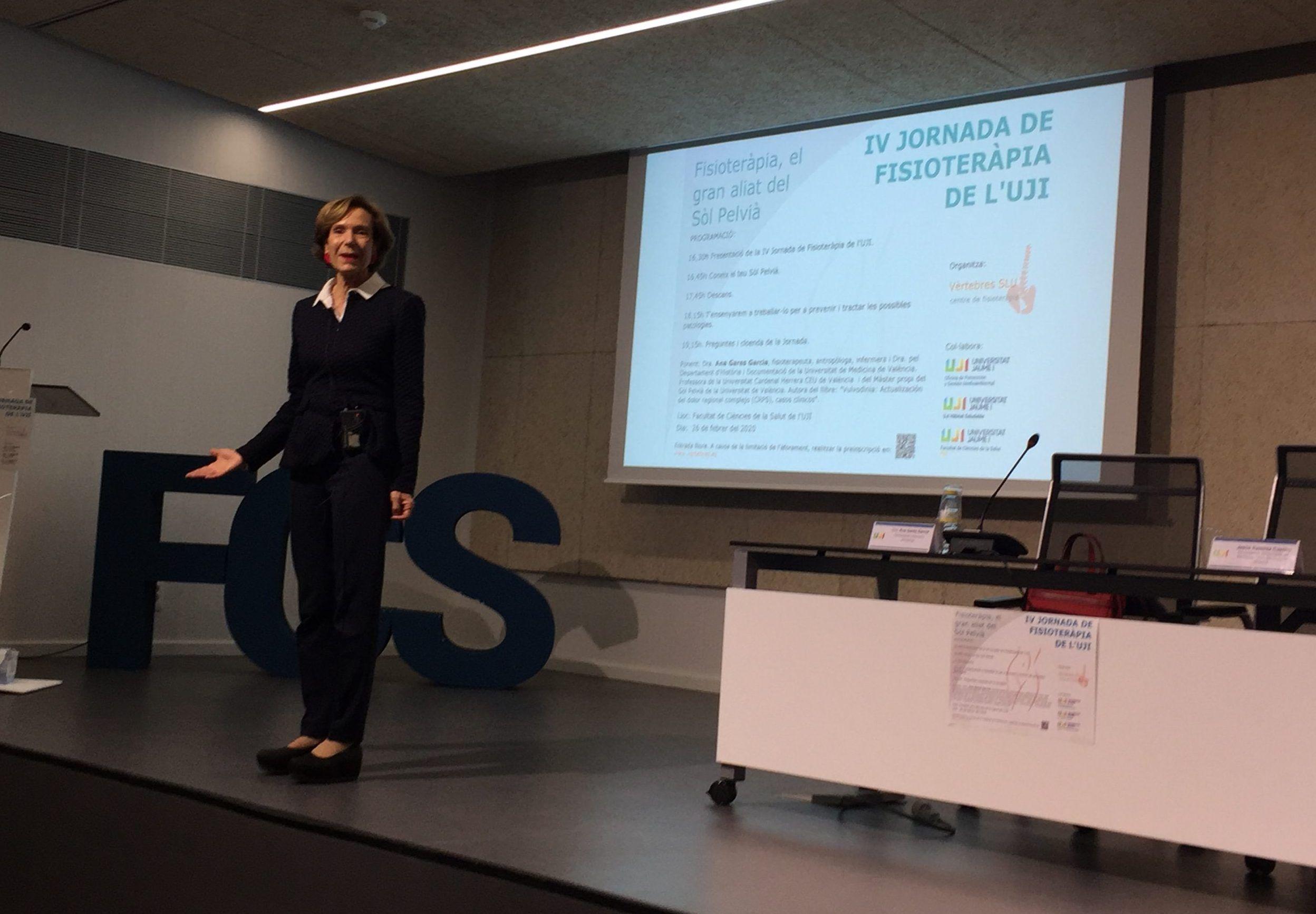 Las aliadas del suelo pélvico: Ana Garés impartiendo la IV Jornada de Fisioterapia de la UJI en Castellón