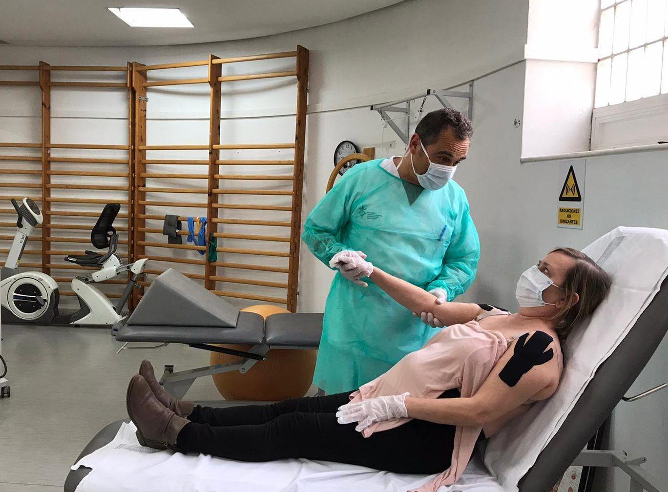La Fisioterapia continúa en los centros de salud valencianos durante la epidemia del COVID-19.