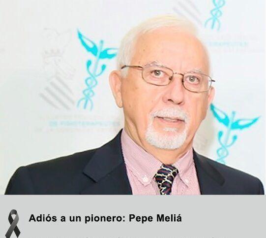 Nos deja un pionero: ha fallecido el veterano fisioterapeuta José Francisco Meliá Oliva, conocido familiarmente por sus compañeros como Pepe Meliá. Fuente: ICOFCV