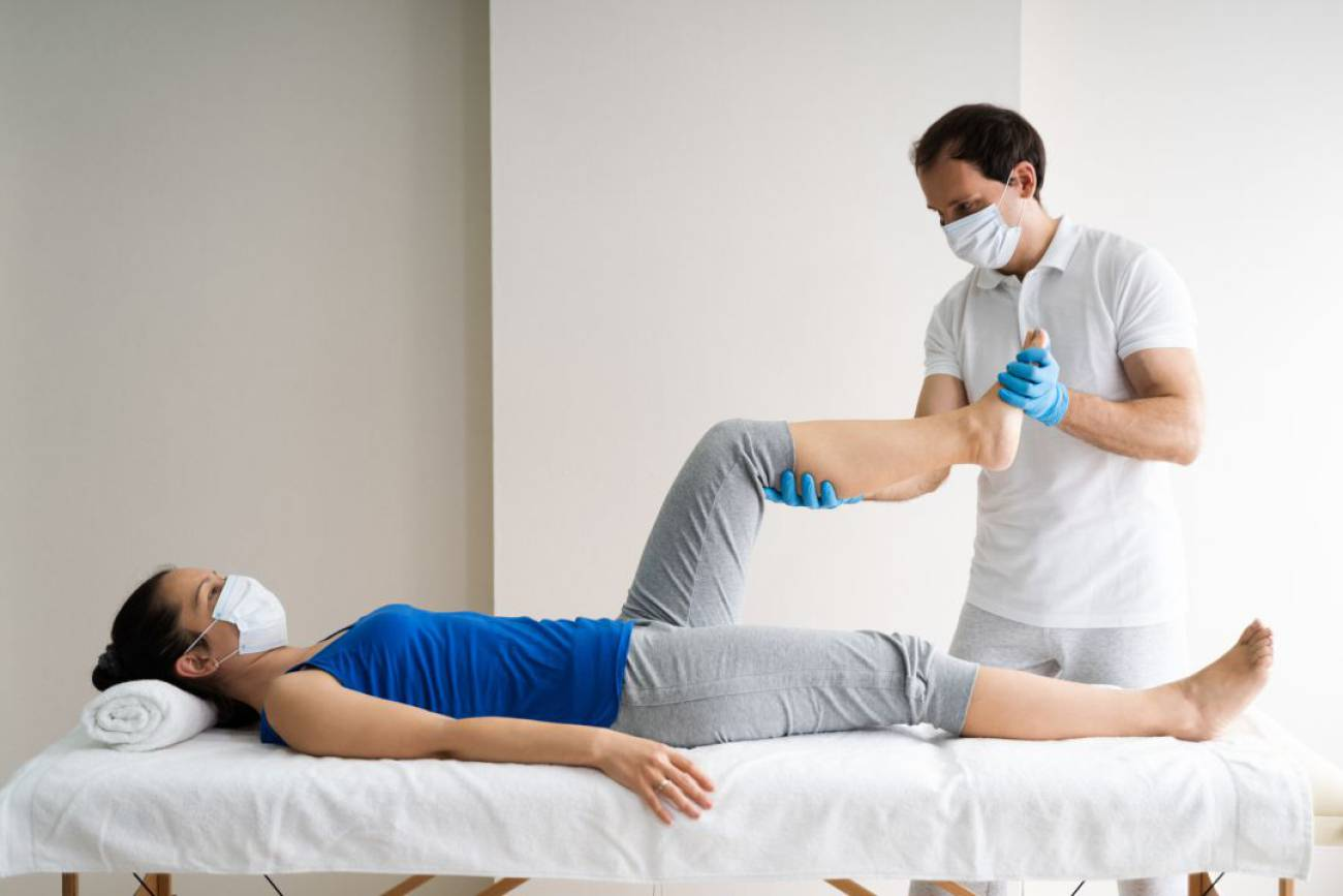 Fisioterapia y COVID-19. Foto Getty Images