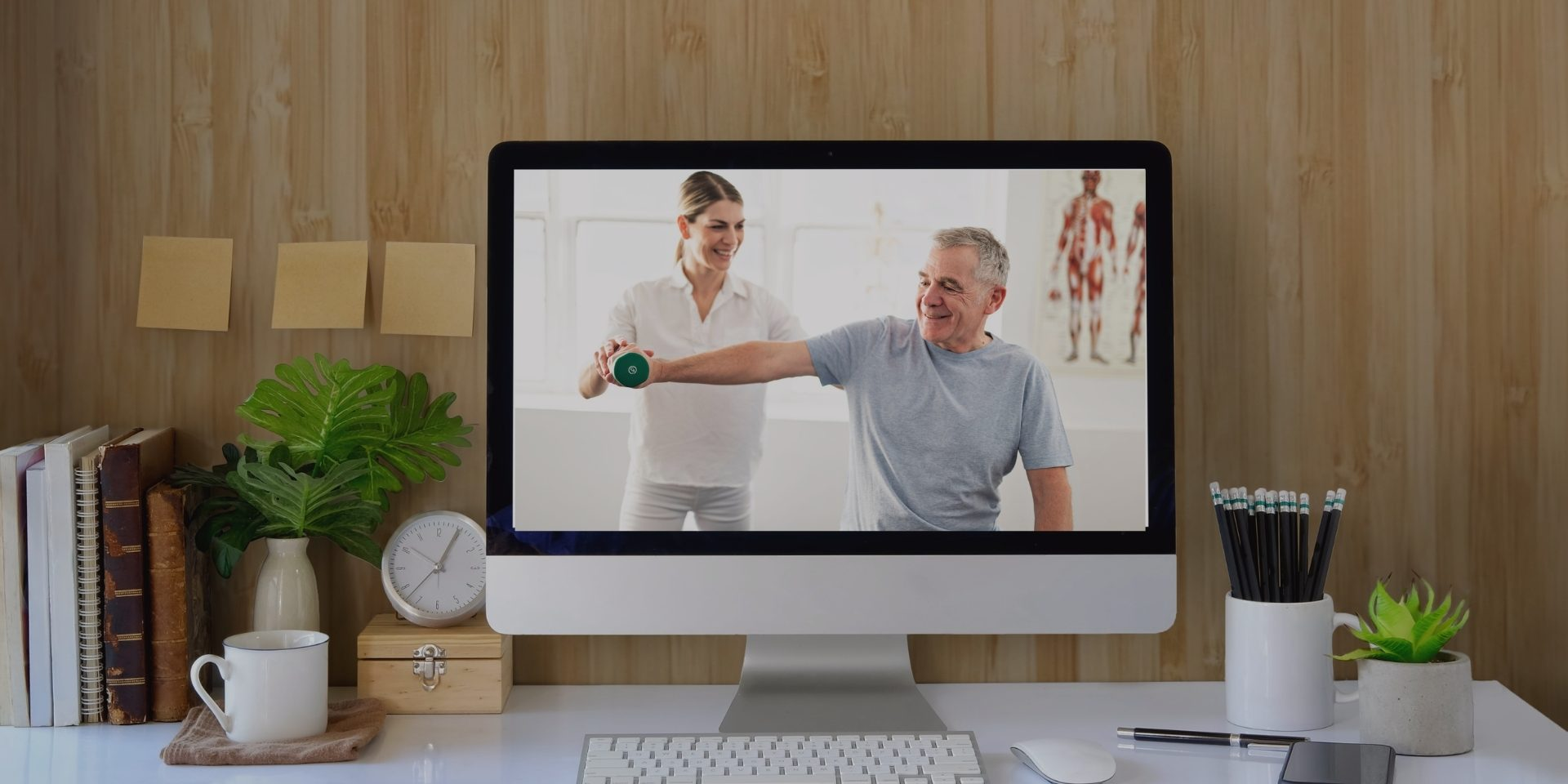 Telefisioterapia... Presente y futuro de una nueva forma de Fisioterapia. Fuente iconográfica lafisioterapia.net