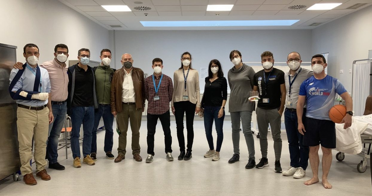 Equipo de profesores de Fisioterapia de la Universidad CEU en Valencia, participantes en las pruebas ECOE