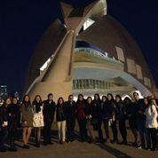 Alumnos de Educacion Primaria tras el concierto