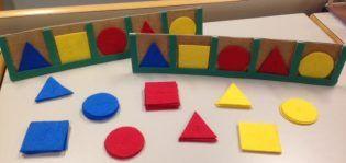 Regleta. Para trabajar formas geométricas básicas y memoria secuencial.