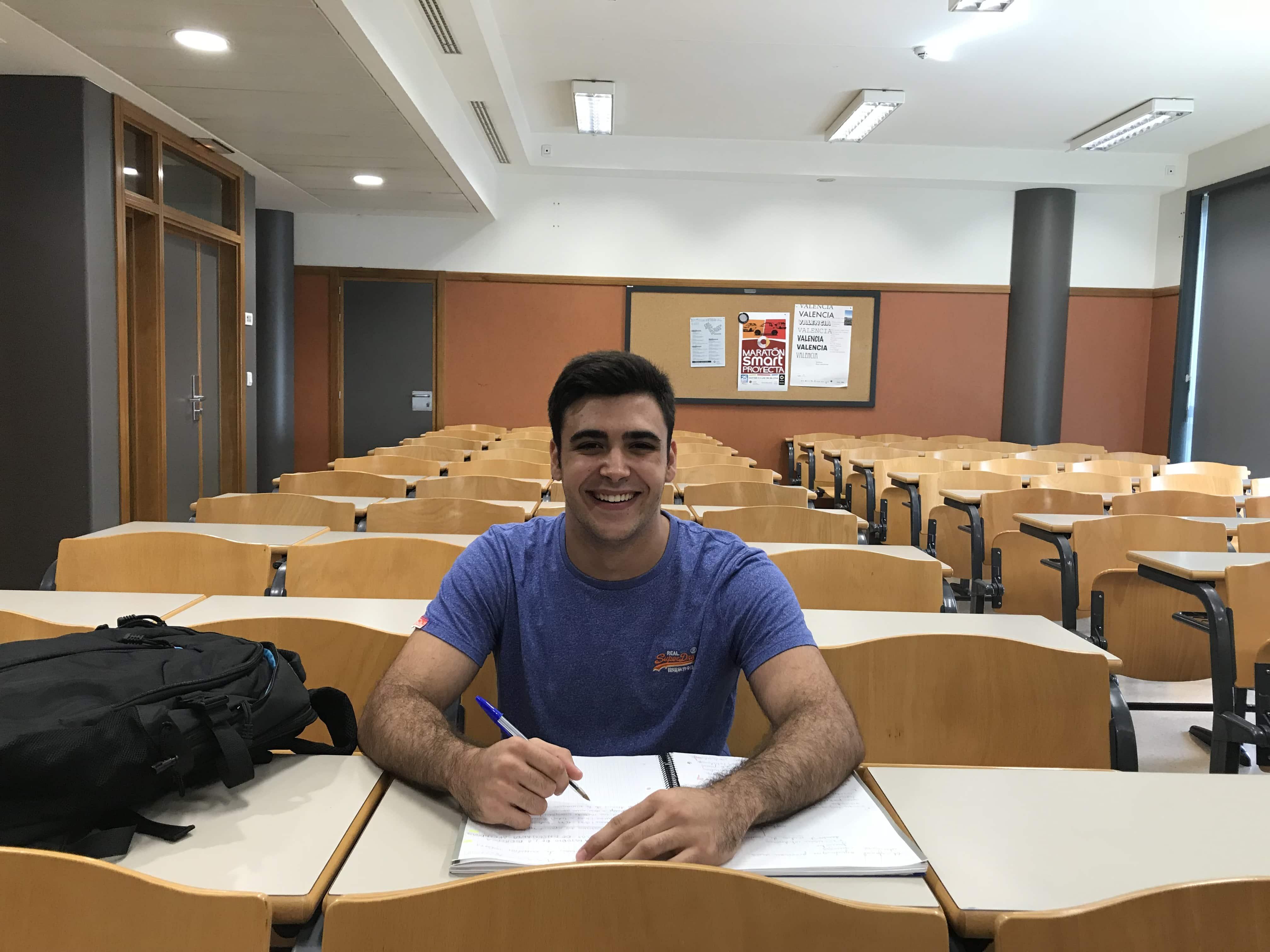 Ignacio Maestro en el aula, durante nuestra charla