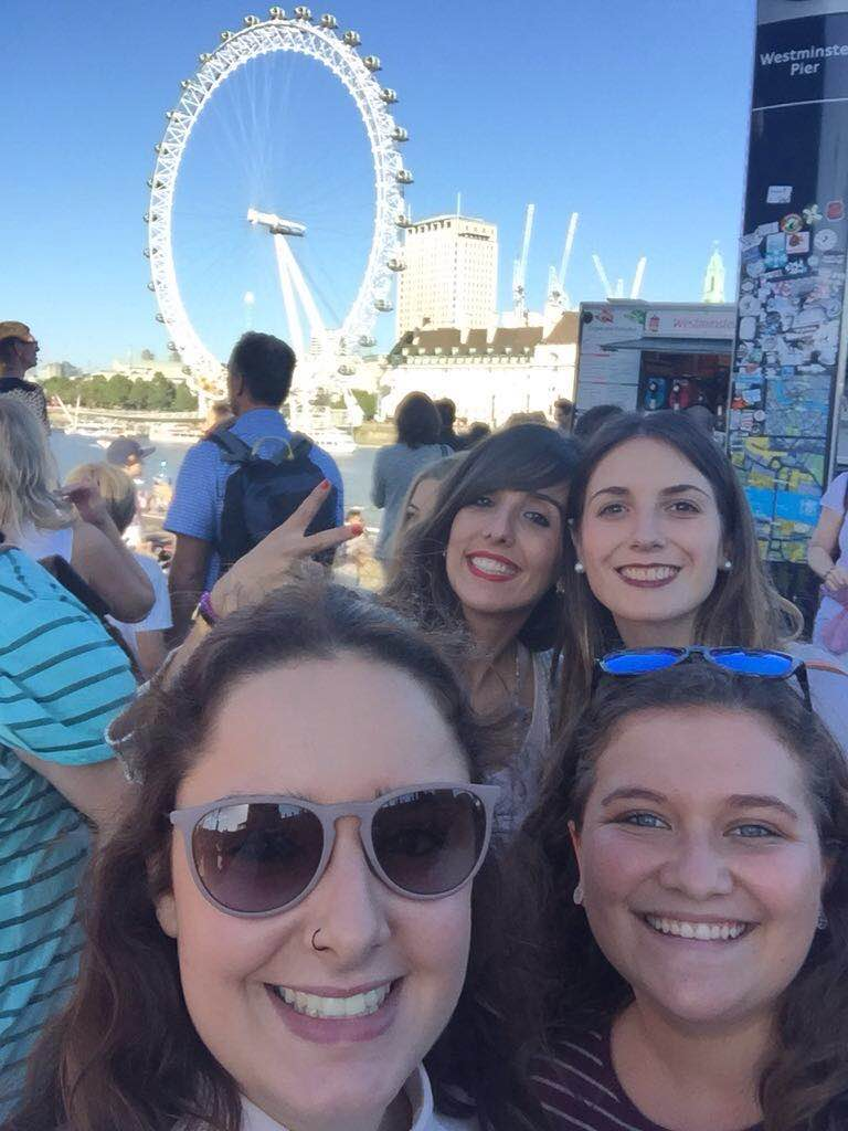 Judit and other CEU students in London