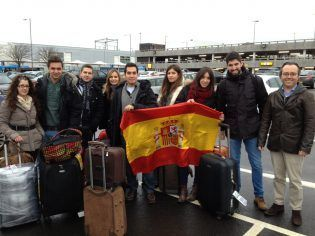 Spanish team at Glasgow airport