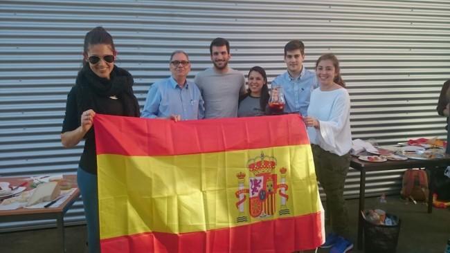 El equipo del CEU. Patricia, Rafael, Paco, Ana, Germán y Belén