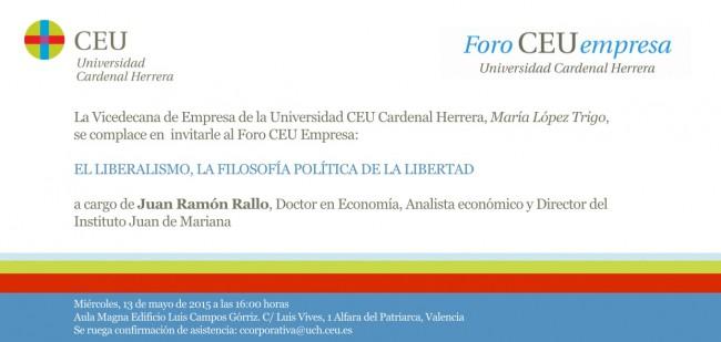 Invitacion Foro CEU Juan R. Rallo