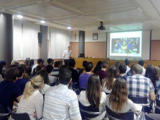 Presentación del curso MIR de CTO en el Aula Magna del aulario de Alfara