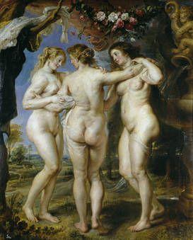 Las tres gracias by Rubens