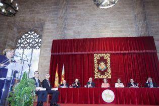 Momento de la Ceremonia con la intervención de la Dra. Badimón